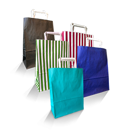 Coloured Paper Carry Bags