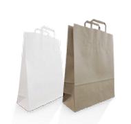 Flat Fold Handle Carry Bags