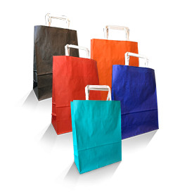 Solid Coloured Paper Carry Bags