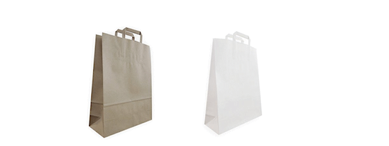 Paper Carry Bags - Flat Fold Handle