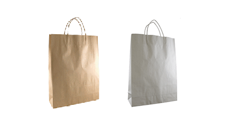Twisted Paper Handle Carry Bags