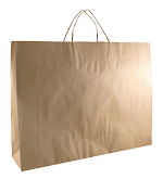 Large Boutique (450w+125x350h) Brown Twisted Handle Paper Bag