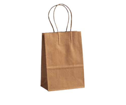 Baby (140w+80x200h) Brown Twisted Handle Paper Bag
