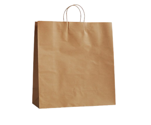 Large (400w+125x480h) Brown Twisted Handle Paper Bag