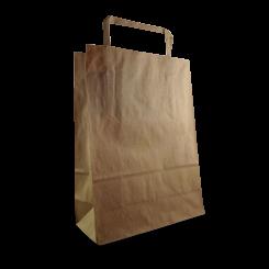 Baby (180+80x240h) Brown Flat Fold Handle Paper Bag