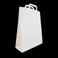 XS (220+100x290h) White Flat Fold Handle Paper Bag