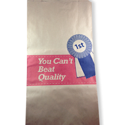 19SO (250w+115x480h) Quality Meat HWS Paper Bag