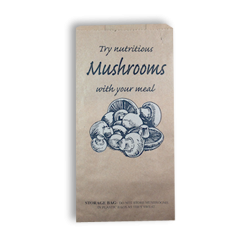 Mushroom (150w+80x280h) HWS Printed Paper Bag