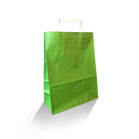 XS (220w+100x290h) Green Solid Paper Carry Bag