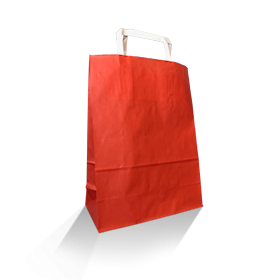 XS (220w+100x290h) Red Solid Paper Carry Bag