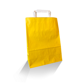 XS (220w+100x290h) Yellow Solid Paper Carry Bag