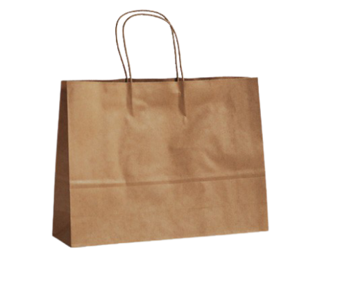 Small Boutique (350w+100x260h) Brown Twisted Handle Paper Bag