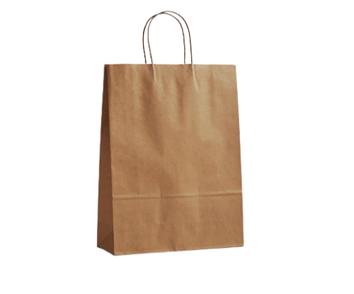 Small (260w+100x350h) Brown Twisted Handle Paper Bag