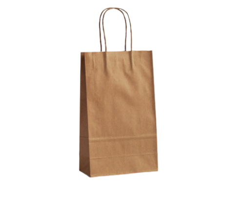 XS (160w+80x265h) Brown Twisted Handle Paper Bag